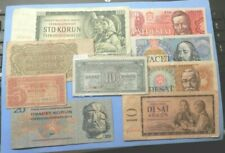 Czechoslovakia 9 different old banknotes 1945-88 Circulated