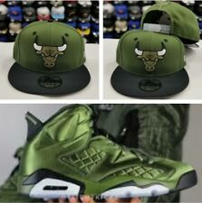 Matching New Era Chicago Bulls Snapback Hat for Jordan 6 Pinnacle OLIVE Green