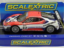Scalextric c2804 slot car Ferrari f430 GT No. 62 M .1: 32