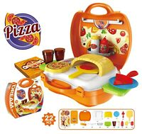 22pcs Kids Toy Pretend Role Play Kitchen Pizza Food Making Sets Children Gift