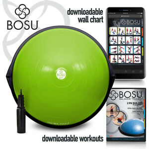 BOSU The Original Balance Core Ab Sport Trainer 65cm/26in Diameter, Black/Green
