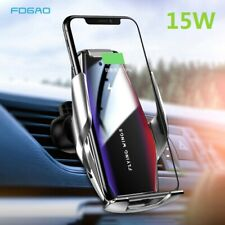 US 15W Qi Wireless Charger Car Charging Dock Bracket For iPhone 11 8 Samsung S20