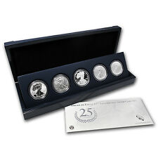 2011 Silver American Eagle 25th Anniversary 5 Coin Set - with Box & Certificate