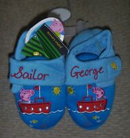 John Lewis Peppa Pig Sailor George Slippers Size C6 RRP £12 - New With Tags