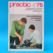 DDR practic 4/1975 Zeichengerät Außenfilter Teppichknüpfen Klebepistole Moped G