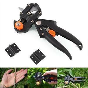 Garden Fruit Tree Pro Pruning Shears Scissor Grafting Cutting Tools Set+2 Blades