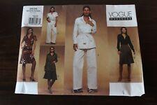 Vogue Wardrobe Pattern #2635 Size 6-8-10, Jacket, Shirt, Dress, Skirt, pants