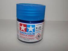 Tamiya Color Acrylic Paint Clear Blue #X-23 (23 ml) NEW