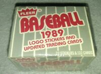 89 FLEER BASEBALL  UPDATED TRADING CARDS SEALED IN BOX *Ken Griffey jr. Rookie