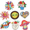 Sunflower Embroidered Iron Sew On Patches Badge Bag Fabric Applique DIY Craft FG