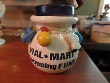 Ceramic Walmart Shopping Fund Piggy Bank #1995