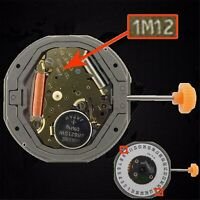 Para MIYOTA 1M12 LTD QUARTZ Movimiento de Reloj Date at 3' / 6' Reemplace 6M12