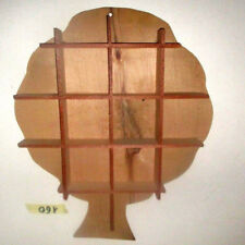 Bacheca mensola legno naturale compensato forma albero decoupage camera