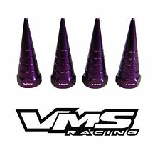 VMS BILLET ALUMINUM PURPLE H22 H22A VTEC VALVE COVER SPIRAL SPIKE NUTS 8 PCS