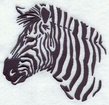 Embroidered Short-Sleeved T-Shirt - Zebra Silhouette F4996 Sizes S - Xxl