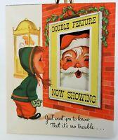 Pop Up Santa Christmas Used Card, 1954 Postmarked Envelope