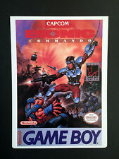 Vintage Toys 'R' Us VIDPRO CARD for BIONIC COMMANDO for GAME BOY by CAPCOM