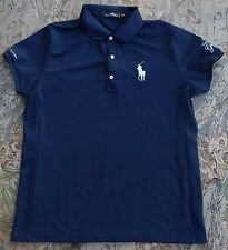 RALPH LAUREN RLX Golf Navy Polo Shirt Large / Big Pony Greenbrier Classic PGA