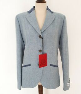 Bucktrout Ladies Yorkshire Tweed Fitted Jacket Size 12 in Sky Blue