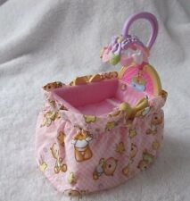 FISHER PRICE Loving Family Dollhouse BABY GIRL PINK BASSINET CRIB Mobile 2007