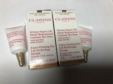 2 X Clarins Extra-Firming Eye Lift Perfecting Serum 3ml Each - New & Boxed