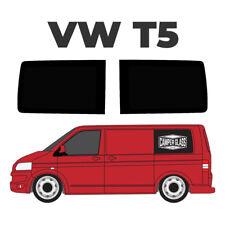 VW T5 SWB Transporter Pair Of Rear Quarter TOTAL BLACK OUT Windows, FAKE Windows