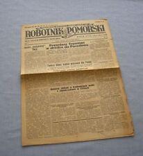 Czasopismo Robotnik Pomorski nr 47 z 1945 / Toruń, gazeta, Old Polish newspaper