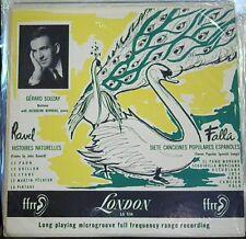 """Falla/Ravel/Souzay/Bonneau    Histoires Naturelles; Siete Canciones  10""""  London"""