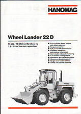 """Hanomag """"22D"""" Wheel Tractor Loader Shovel Brochure Leaflet"""
