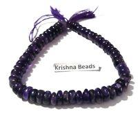 "1 Strand Natural Amethyst Smooth Rondelle 6.5-7.5mm Gemstone Beads 9""Inch,Purple"