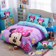 Disney Mickey Minnie Mouse Girls Bedding Set Cartoon Digital Printing Soft Pillo