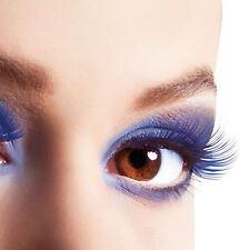 False Blue Eyelashes Lash Fake Stick On Fancy Dress Accessories Fashion Rave