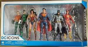 DC Icons Justice League 7 Pack Action Figure Set