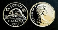 Canada 1977 Proof Like Gem Five Cent Nickel!!