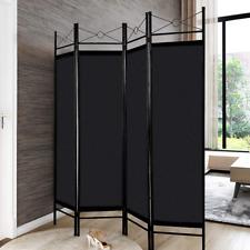 4 Panel Freestanding Metal Frame Private Folding Hinged Room Divider