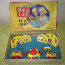 Collectable Childrens MARY LOU Rare TEA PLAY SET M113 - Tea Pot / Plates / Cups