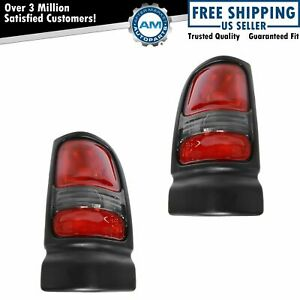 Tail Lights Taillamps Left/Right Pair Set for 94-02 Dodge Ram 1500 2500 3500