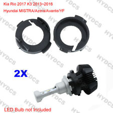 2x H7 LED Bulb Headlight Holder Adaptor Kit For Kia Rio K3 Hyundai MISTRA Azera