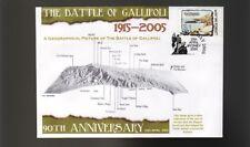 90th ANNIV OF GALLIPOLI ANZAC DAY COV, BATTLEFIELD MAP