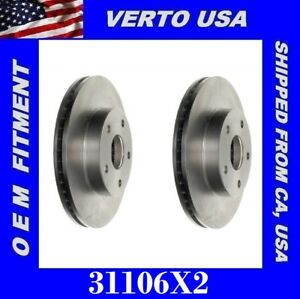 Front Brake Rotors For Toyota Previa With 4 Wheel ABS 1991-1992-1993-1994 1996