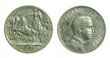 pci0658) Vittorio Emanuele III Lire 2 Quadriga veloce 1912