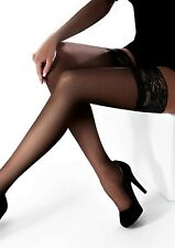 High Quality Hold Up Stockings Gorgeous Lace Sexy Stay Ups 15 Den Denier S-XL