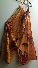 New 3XL Nigerian Sleeveless Full Length Split Skirt Dress Jumper Orange  Africa