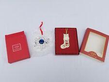 Lenox Bejeweled Snowflake Ornament & I Love My Cat Ornament