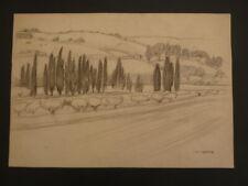 Italie Italia Provence Marseille  Beau dessin Jean Frederic Canepa 1894 1981