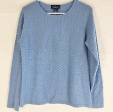 NWT CHARTER CLUB 100% CASHMERE SWEATER NEW WITH TAGS Medium Luxury Soft BLUE