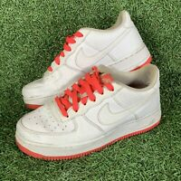 Nike Air Force 1 Low GS White & Racer Pink Trainers Shoes Size UK 5.5 EU 38.5
