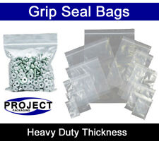 """200 x LARGE GRIP PRESS SEAL BAGS 5.5"""" x 5.5"""" CLEAR PLASTIC FOOD SUITABLE POUCHES"""