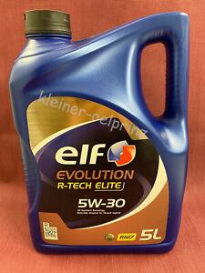5 Litre Elf Evolution R-Tech Elite 5W-30 Synthétique L'Huile De Moteur / Renault