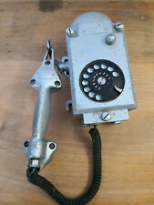 Wandtelefon Telefon Massiv Metall Antik Bunkertelefon Industrietelefon